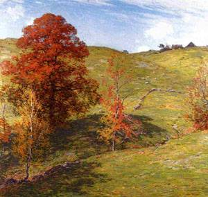 The Red Oak (no.2) 1911   William Metcalfe   oil painting