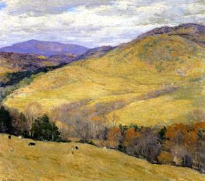 Vermont Hills November 1923   William Metcalfe   oil painting