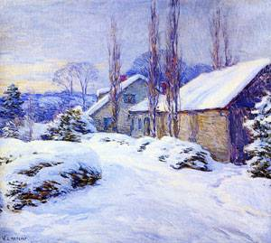 Winter Afternoon 1917   William Metcalfe   oil painting