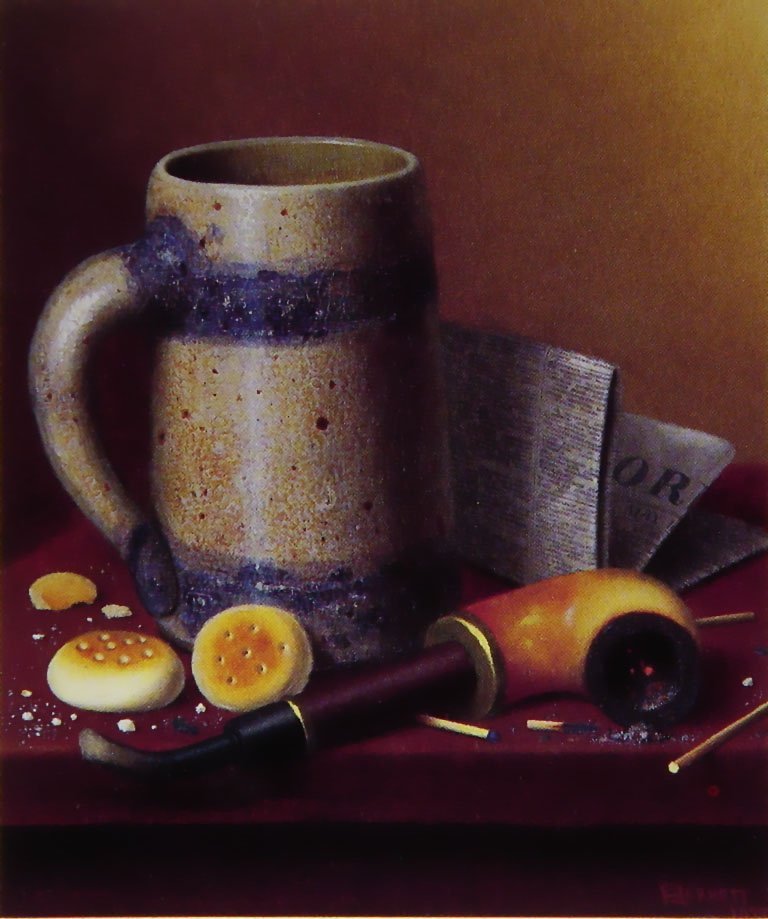 A Mans-Talbe Reversed | William M Harnett | oil painting