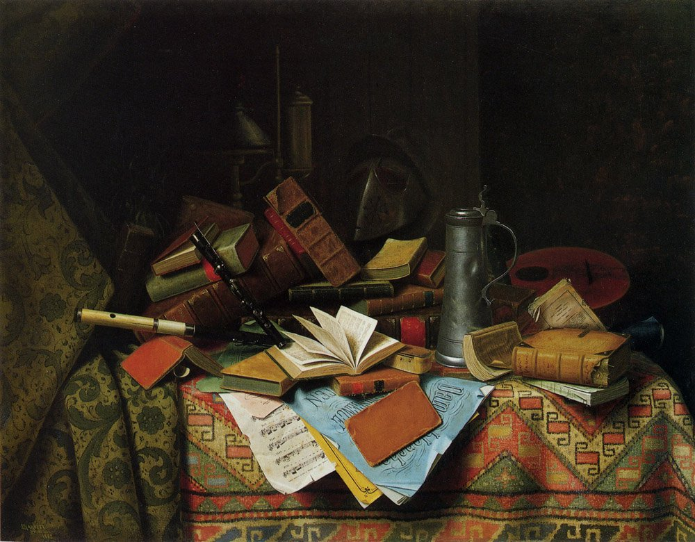 A Study Table | William M Harnett | oil painting
