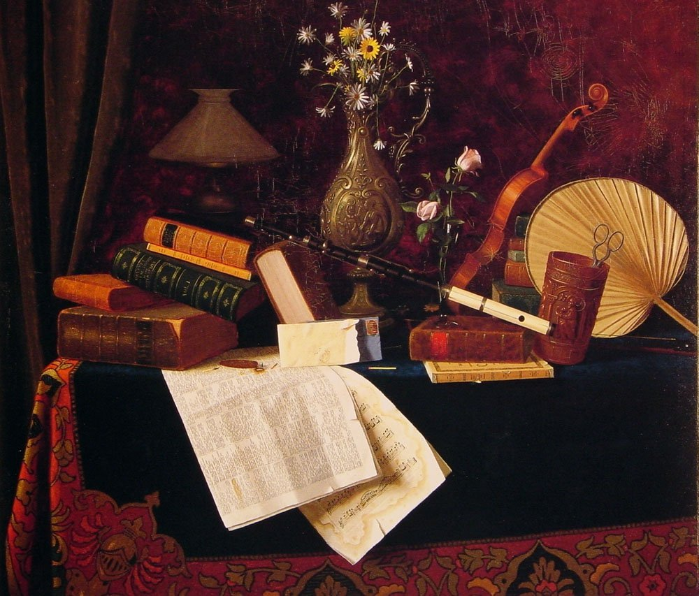 Ease | William M Harnett | oil painting