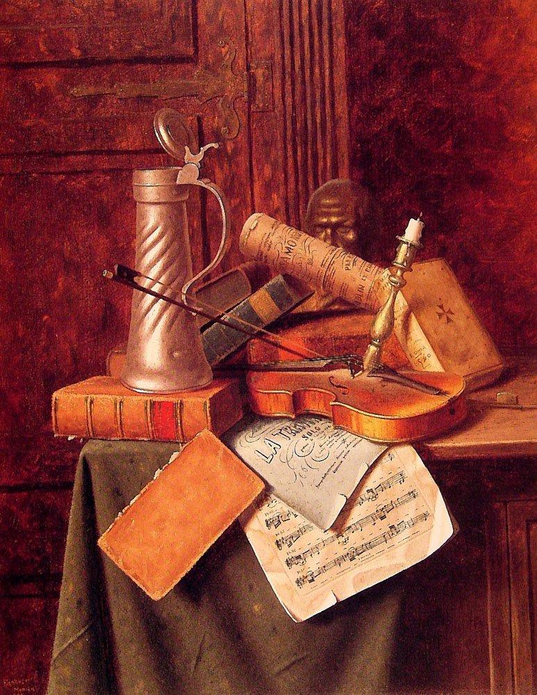 Munich Still life | William M Harnett | oil painting