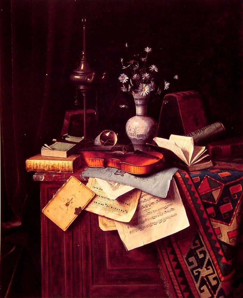 Music | William M Harnett | oil painting