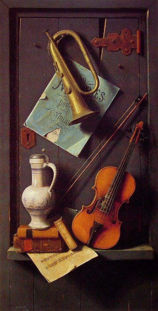 Old Models | William M Harnett | oil painting