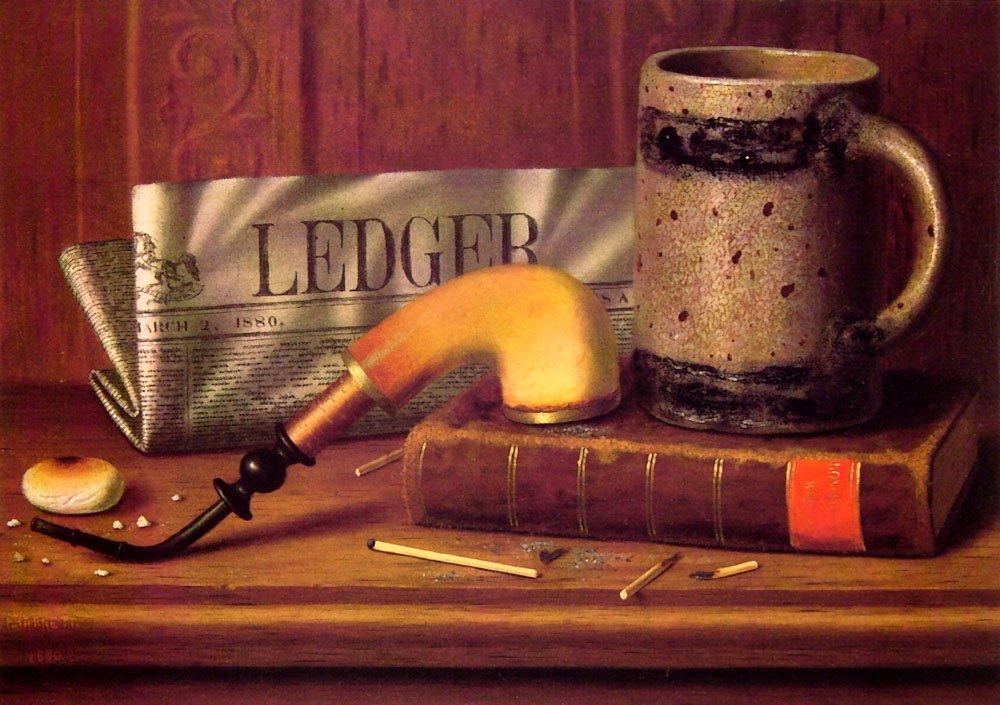 Philadelphia Public Ledger | William M Harnett | oil painting