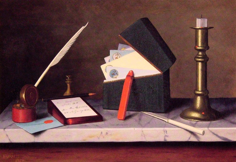 Secretarys Table | William M Harnett | oil painting