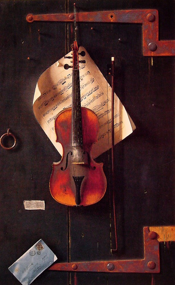 The Old Violin   William M Harnett   oil painting