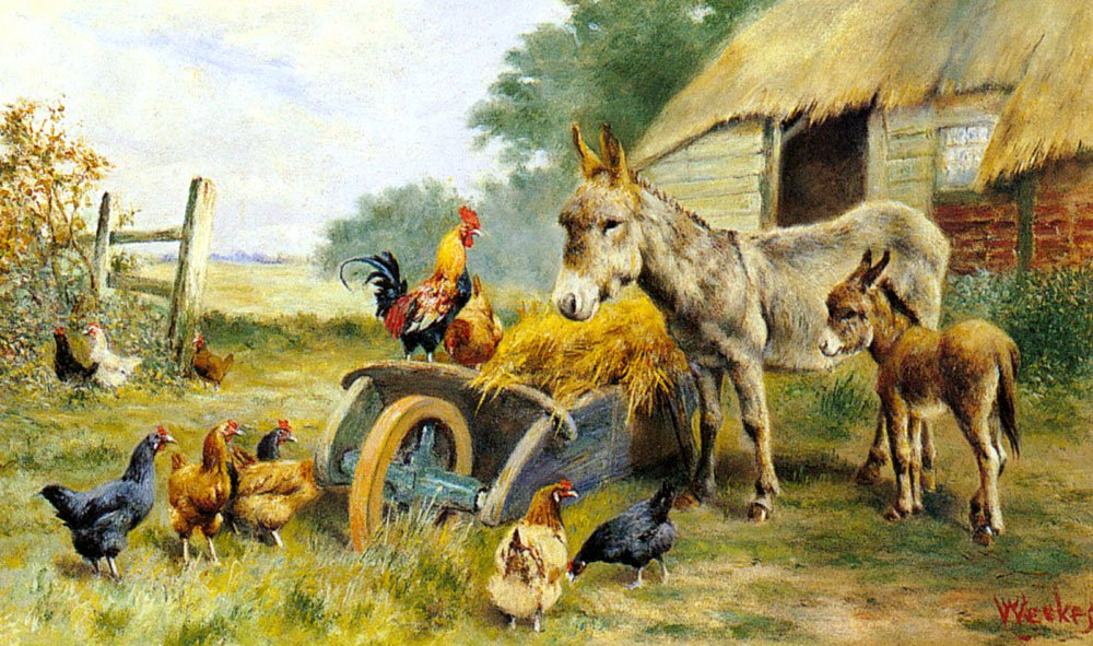 Fowl Talk | William Weeks | oil painting