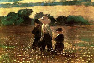 In the Mowing | Homer Winslow | oil painting