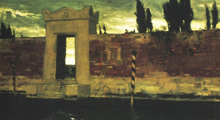 Cemetery In Venice 1876 | Wladyslaw Czachorski | oil painting