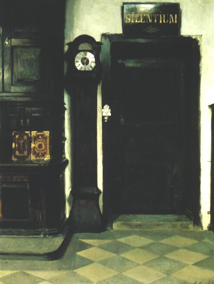 Interior Of A Sacristy Silentium 1900 | Wladyslaw Czachorski | oil painting