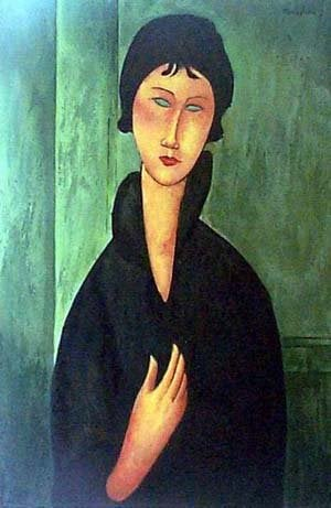 Woman with Blue Eyes | Amedeo Modigliani | oil painting