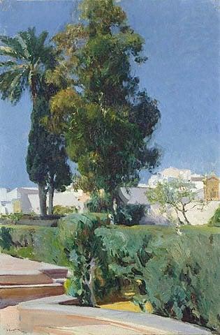 Corner of the Garden Alcazar Sevilla GTY | Joaquin Y Bastida Sorolla | oil painting