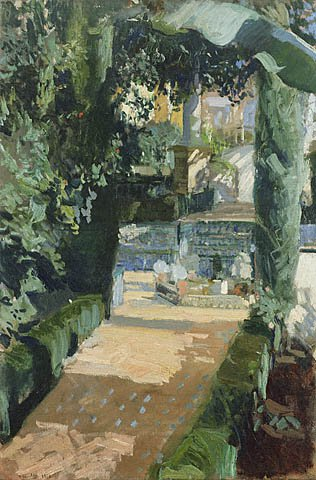 Court of the Dances Alcazar Sevilla GTY | Joaquin Y Bastida Sorolla | oil painting