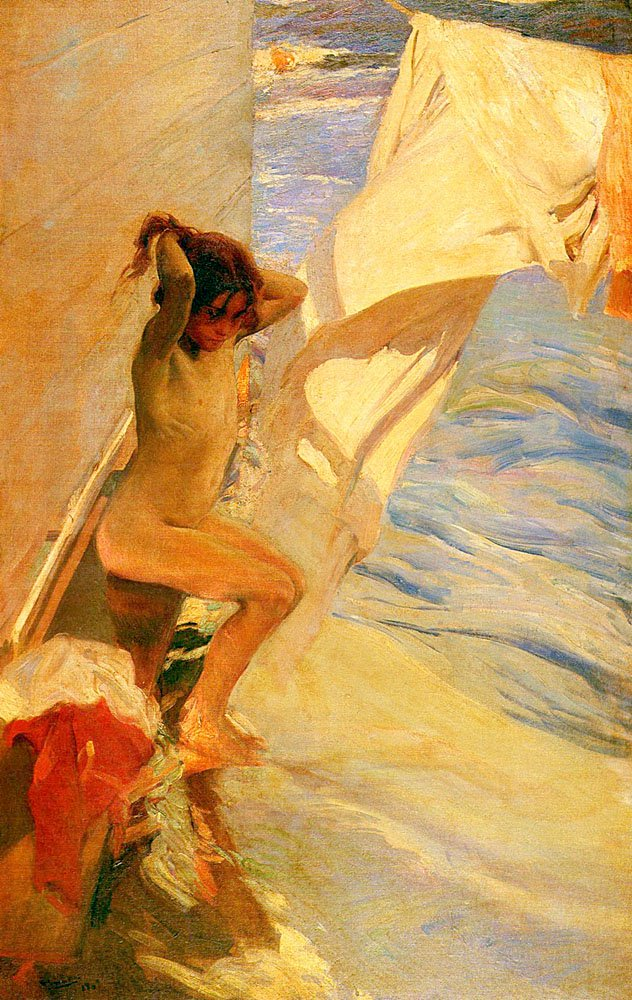 Antes Del Bano | Joaquin Y Bastida Sorolla | oil painting