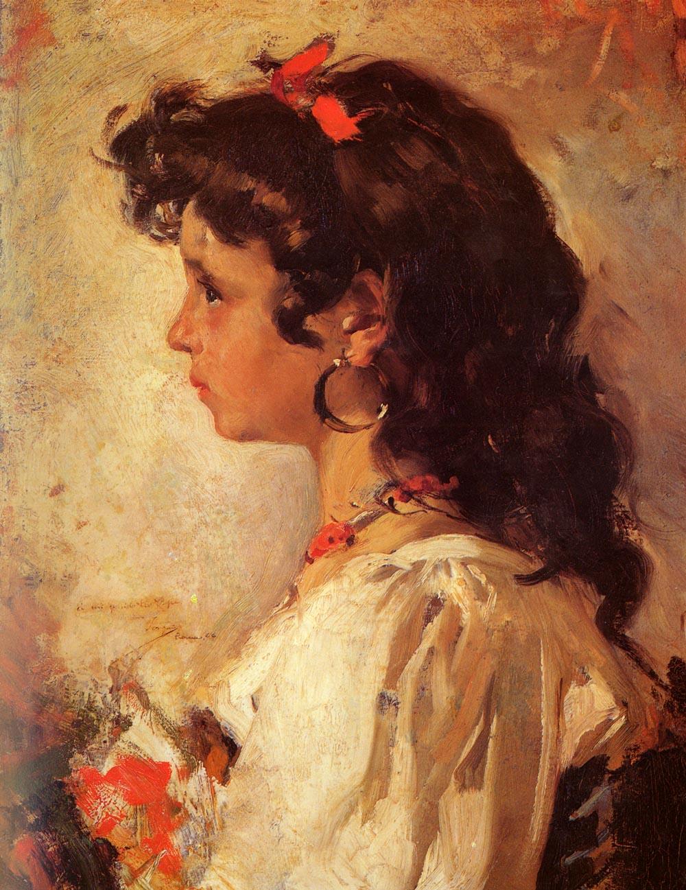 Cabeza de Italiana | Joaquin Y Bastida Sorolla | oil painting