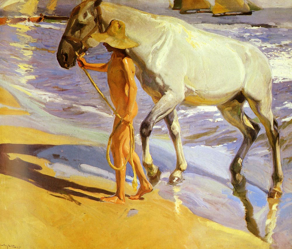 El Bano Del Caballo | Joaquin Y Bastida Sorolla | oil painting