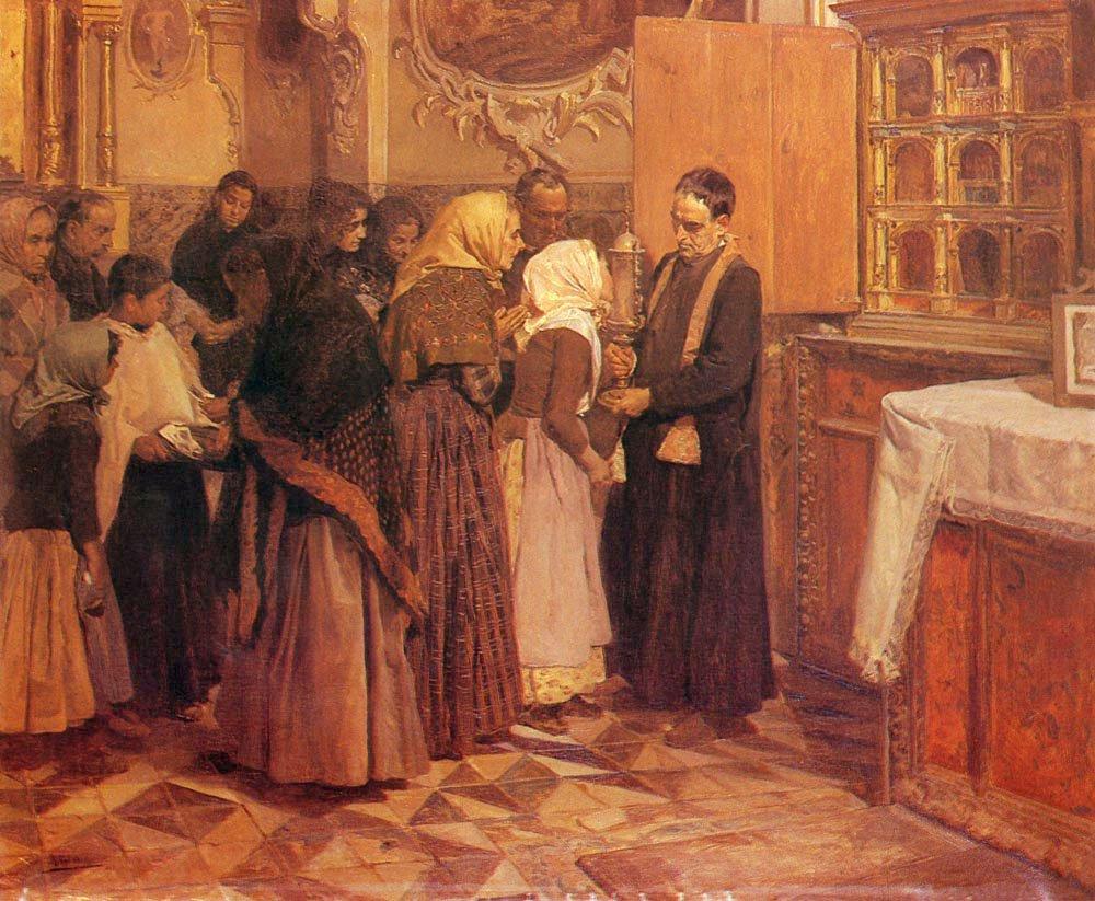 El Beso De La Reliquia | Joaquin Y Bastida Sorolla | oil painting