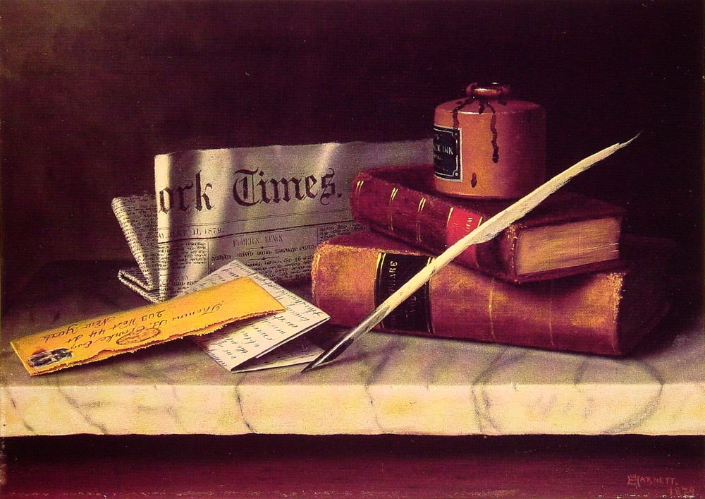 Still Life with Letter to Thomas B Clarke | William M Harnett | oil painting
