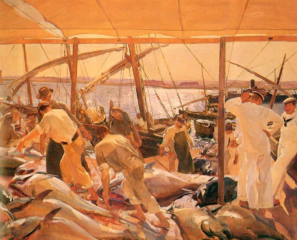 La Pesca Del Atun | Joaquin Y Bastida Sorolla | oil painting