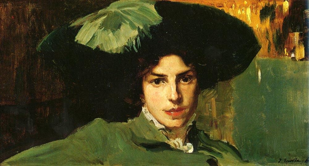 Maria Con Sombrero | Joaquin Y Bastida Sorolla | oil painting