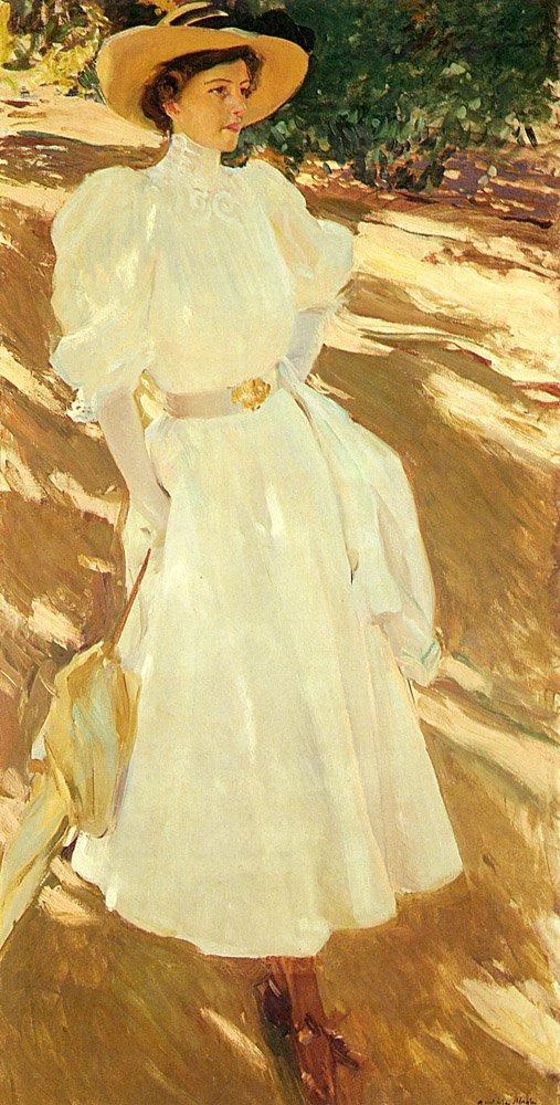 Maria En La Granja | Joaquin Y Bastida Sorolla | oil painting