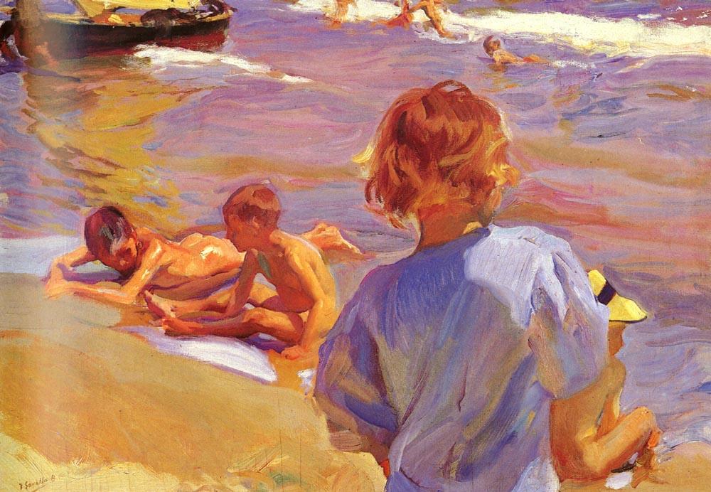Ninos En La Playa(Valencia) | Joaquin Y Bastida Sorolla | oil painting