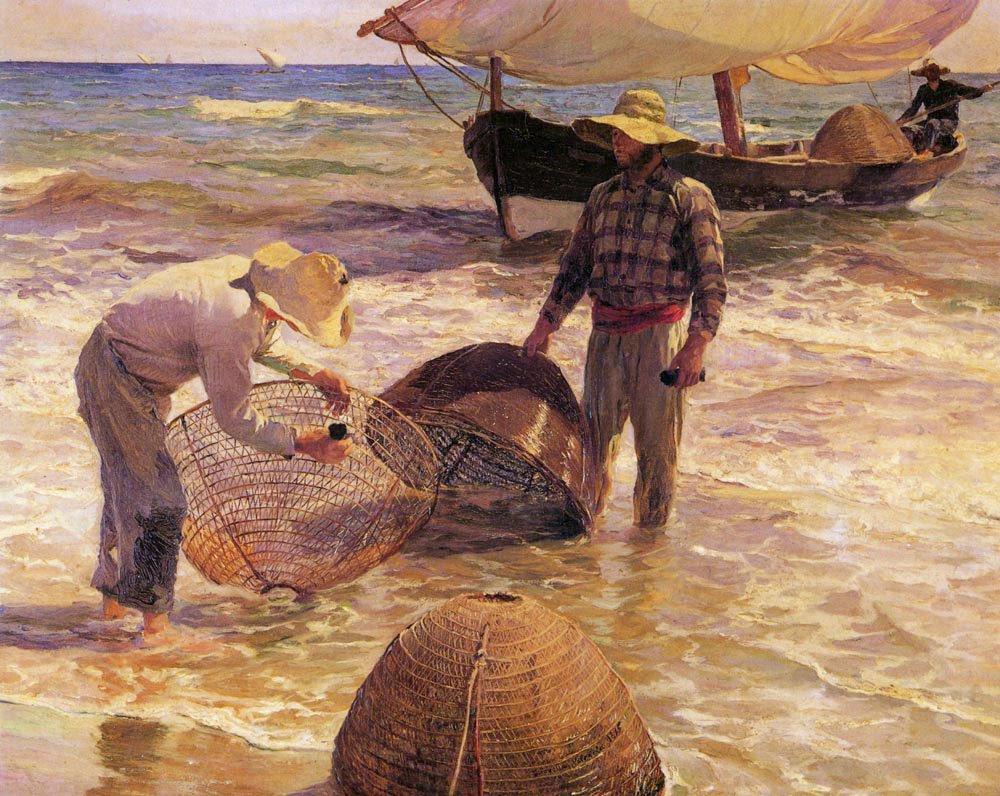 Pescadores Valencianos | Joaquin Y Bastida Sorolla | oil painting