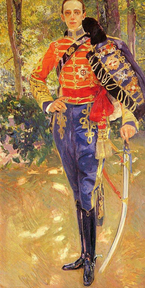 Retrato Del Rey Don Alfonso XIII con el Unif | Joaquin Y Bastida Sorolla | oil painting