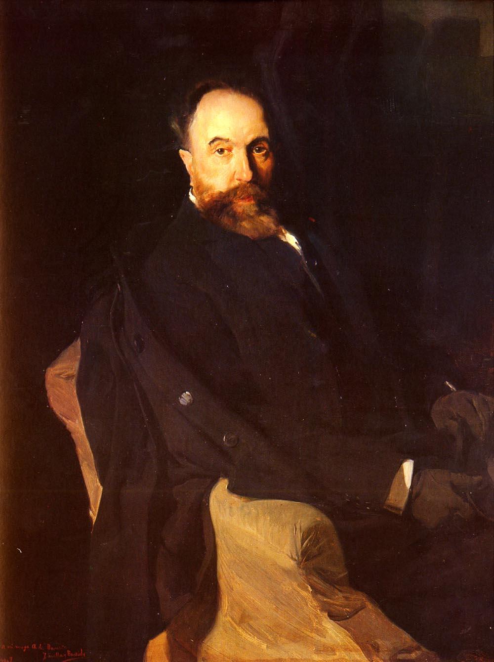 Retrato De Don Aureliano De Beruete | Joaquin Y Bastida Sorolla | oil painting