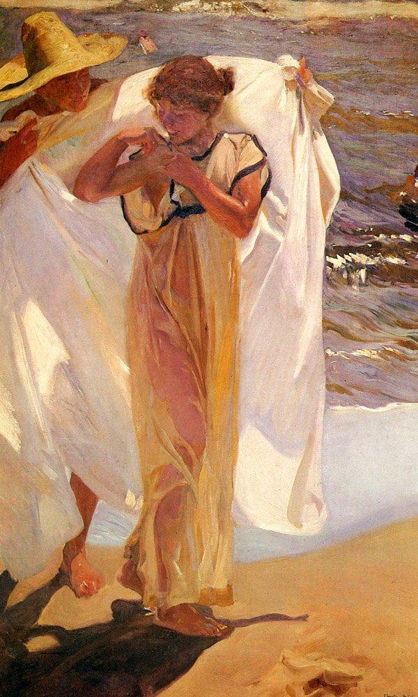 Saliendo Del Bano | Joaquin Y Bastida Sorolla | oil painting