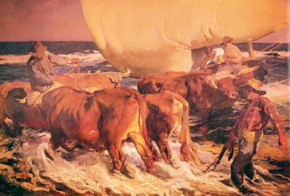 Sol De La Tarde | Joaquin Y Bastida Sorolla | oil painting