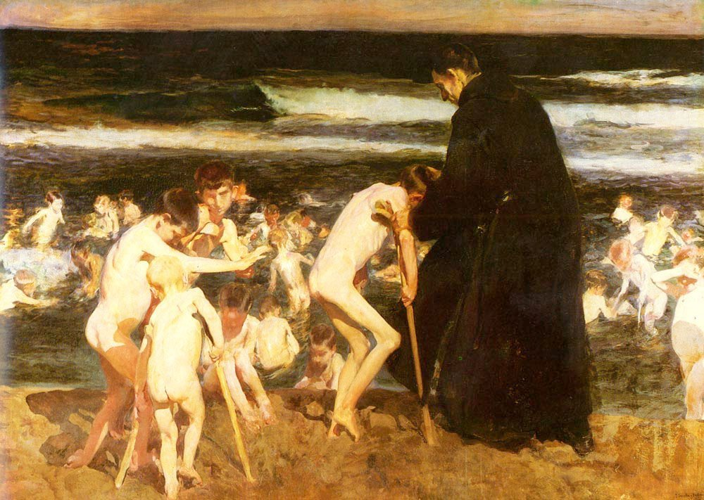 Triste Herencia | Joaquin Y Bastida Sorolla | oil painting