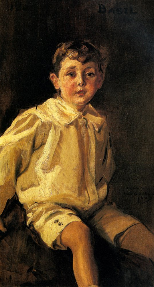 A Portrait Of basil Mundy | Joaquin Y Bastida Sorolla | oil painting