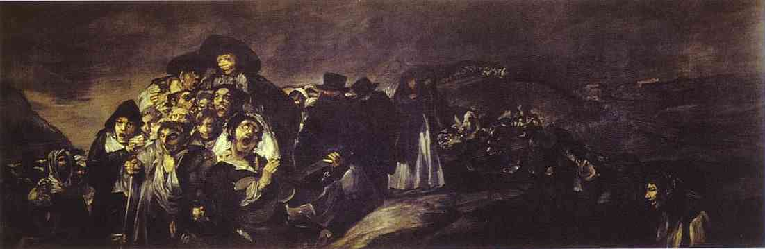 A Pilgramige To San Isido 1820-23 | Francisco De Goya | oil painting