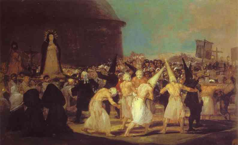 A Procession Of Flagellants 1812-14 | Francisco De Goya | oil painting