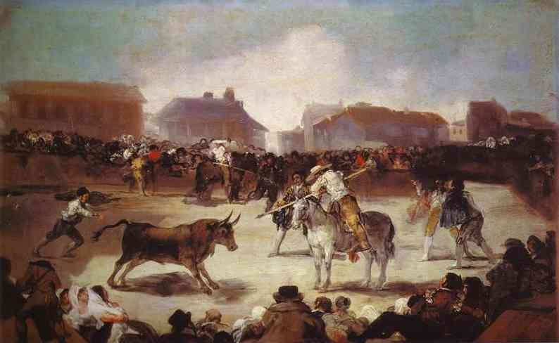 A Village Bullfight 1812-14 | Francisco De Goya | oil painting
