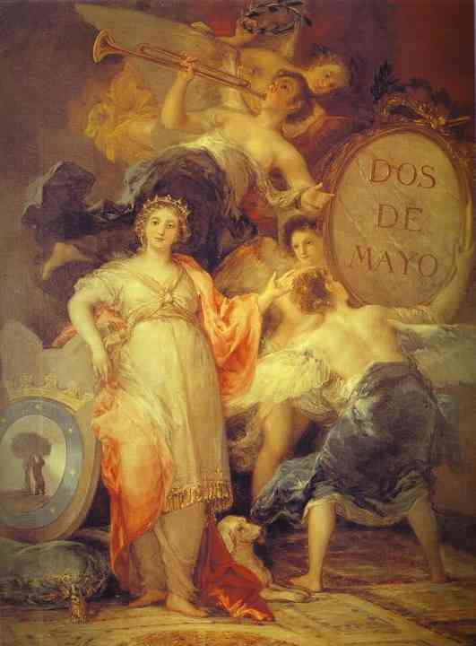Allegory Of The City Of Madrid 1810 | Francisco De Goya | oil painting
