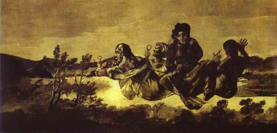 Atropos (Atropos Or Fate) 1820-1823 | Francisco De Goya | oil painting