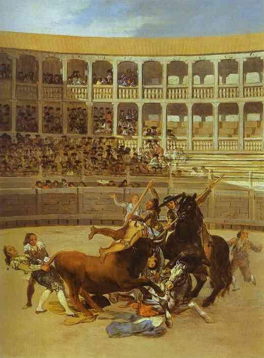 Death Of The Picador 1794 | Francisco De Goya | oil painting