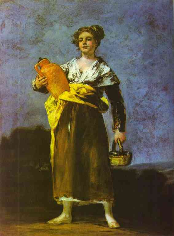 Girl With A Jug (Aguadora) | Francisco De Goya | oil painting