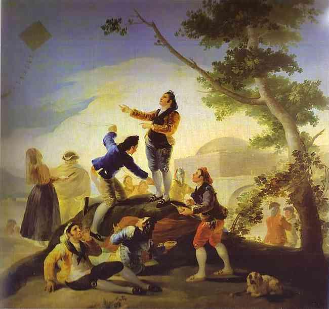 La Cometa (The Kite) 1778 | Francisco De Goya | oil painting