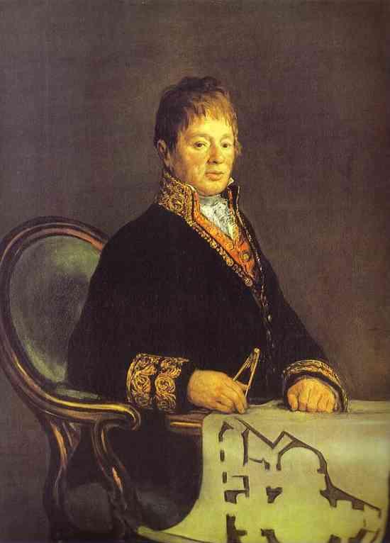 Portrait Of Juan Antonio Cuervo 1819 | Francisco De Goya | oil painting