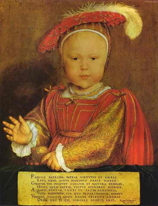 Portrait Of Edward Prince Of Wales 1539 | Younger Hans Holbein | oil painting