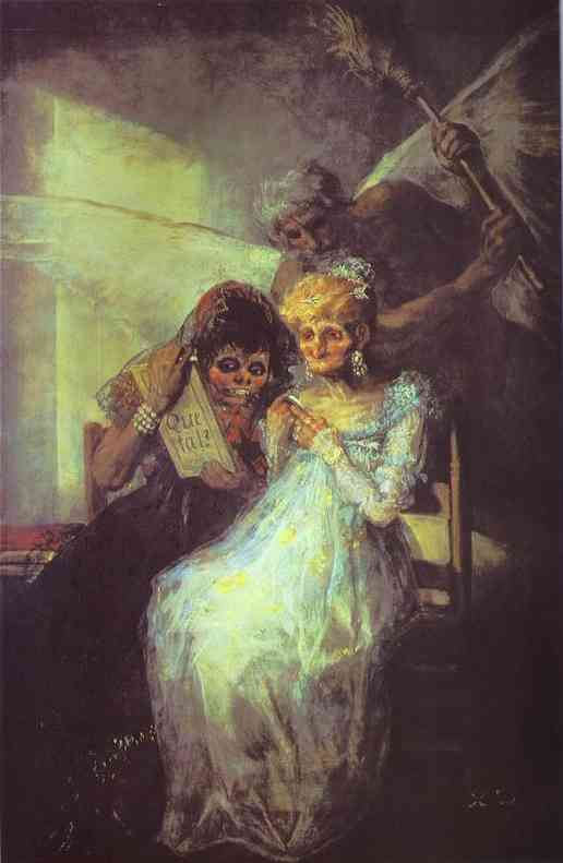 Time Of The Old Women 1810-12 | Francisco De Goya | oil painting
