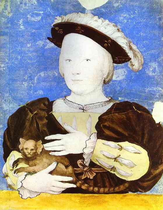 Portrait Of Edward Prince Of Wales With Monkey 1541-2 | Younger Hans Holbein | oil painting