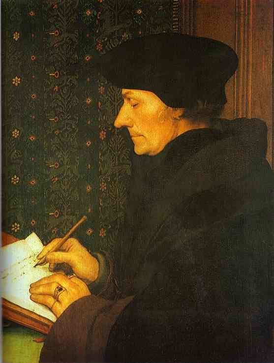 Portrait Of Erasmus 1523 | Younger Hans Holbein | oil painting