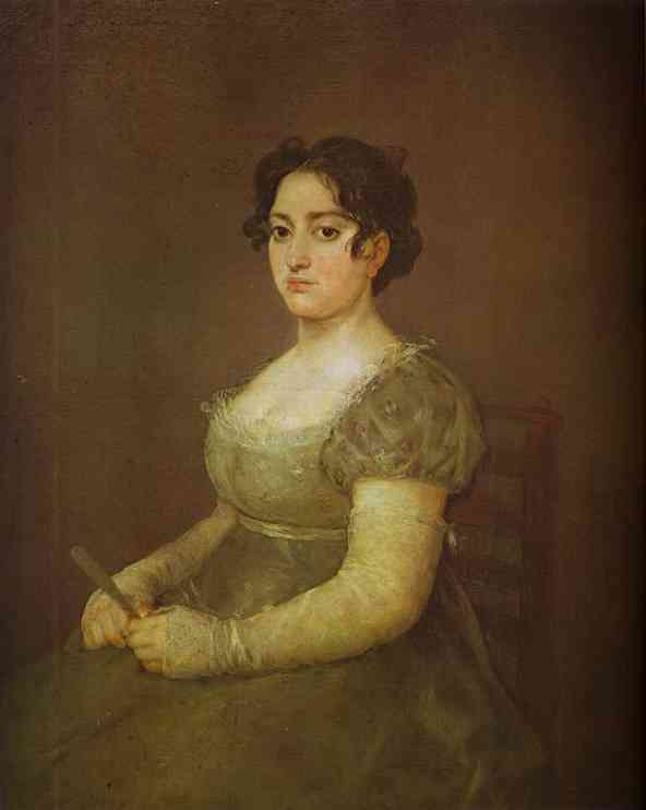 Woman With A Fan | Francisco De Goya | oil painting