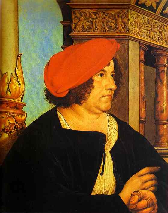 Portrait Of Jakob Meyer 1516 | Younger Hans Holbein | oil painting